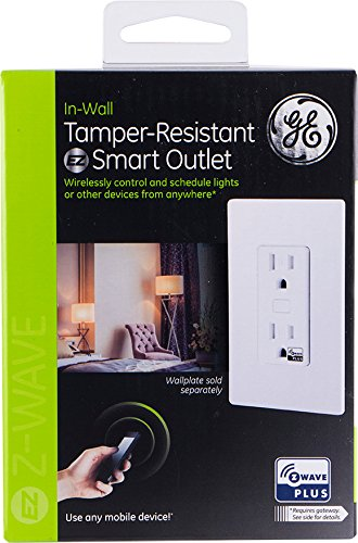 GE Z-Wave Plus Smart Lighting and Appliance Control Receptacle Outlet, On/Off, Tamper Resistant, 1 Always On/1 Controllable Outlet, Zwave Hub Required- Works with SmartThings Wink and Alexa, 14288 by GE (Image #8)