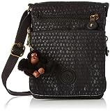 Kipling Eldorado, Women's Cross-Body Bag, Schwarz (Black Scarlet Emb), 15x19.5x0.1 cm (B x H T)