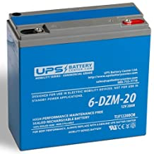 12V 20Ah Deep Cycle AGM VRLA Battery for eBike/Scooter by UPSBatteryCenter® - Compatible Replacement for Chilwee 6-DZM-20, used in eBikes, Electric scooter and mobility devices