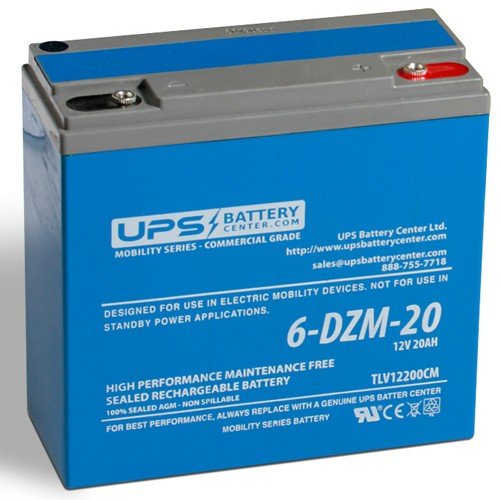 20Ah 12V - 6-DZM-20 Deep Cycle Battery for Mobility Devices only - not for UPSs