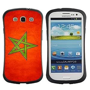 Paccase / Suave TPU GEL Caso Carcasa de Protección Funda para - National Flag Nation Country Morocco - Samsung Galaxy S3 I9300