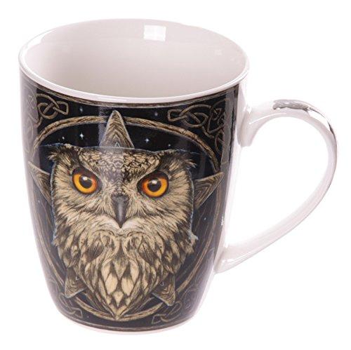 Lisa Parker Bone China Mug - Gift Boxed - Lisa Parker Wise One Owl Star Mug