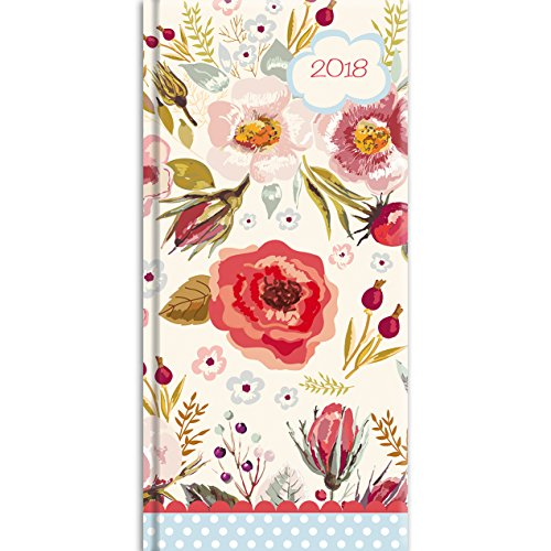 2018 Vintage Blooms Pocket Diary - 3.34 x 6.8 x 0.47 Inches