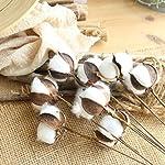 Yezijin-Artificial-Fake-Flowers-Naturally-Dried-Cotton-Stems-Farmhouse-Artificial-Flower-Filler-Floral-Decor