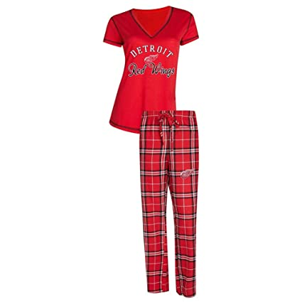 c777decb9 Concepts Sport Detroit Red Wings Women s Pajama Set Duo Sleep Set (X-Large)