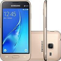 Smartphone Galaxy J1 Mini J105M Dual Chip Samsung Quad Core 1.5GHz 8GB Tela 4' Câmera 5MP Dourado