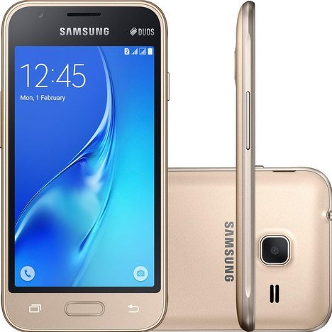 Smartphone Galaxy J1 Mini J105M Dual Chip Samsung Quad Core 1.5GHz 8GB...