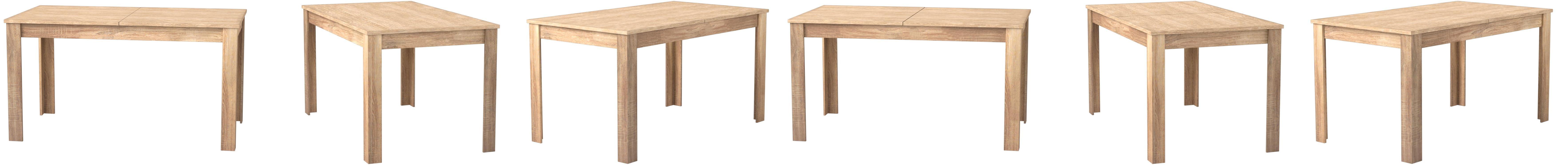 HOMEXPERTS, Tisch NICK, Moderner Esstisch 10 cm mit ausziehbarer ...
