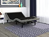 Signature Sleep Power Adjustable Upholstered Bed Base Foundation, Remote Control, Grey Linen, Queen