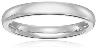 Standard Comfort Fit 18K White Gold Band 3mm Size 4