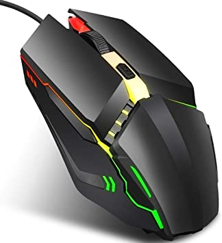 Colorful Glowing Gaming Mouse Wired Optical Mouse Gaming Mouse