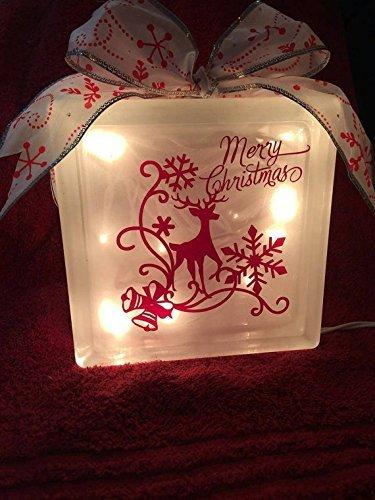 Merry Christmas Light - Christmas Decor - Reindeer - Christmas Night Light  - Glass Block Light - Amazon.com: Merry Christmas Light - Christmas Decor - Reindeer
