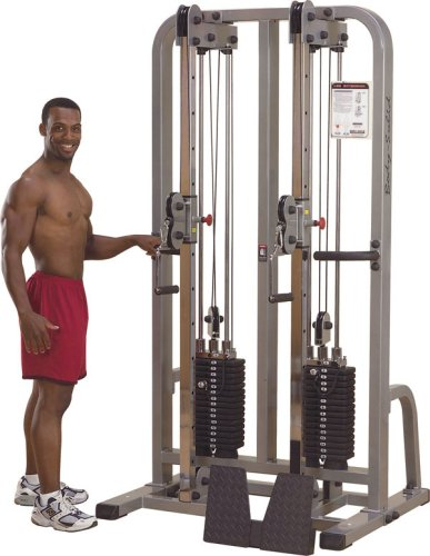 Body Solid Pro Club Line SDC2000G1 Dual Cable Column with Dual 160 Pound Weight Stacks