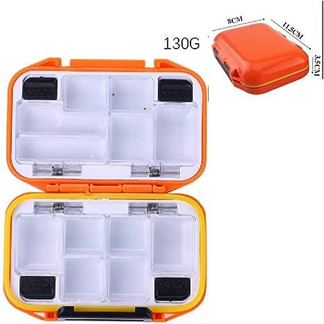 Leezo Caja de señuelos de Pesca, plástico, pequeña, Impermeable, multiorganización, Accesorios de Pesca, 11.5 * 8 * 3.5cm: Amazon.es: Deportes y aire libre