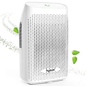 Hysure 2000ml Dehumidifier Compact and Portable Dehumidifier for Damp Air, Mold, Moisture in Home, Kitchen, Caravan, Office, White