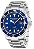Stuhrling Original Men's 417.03 Aquadiver Regatta Espora Swiss Quartz Stainless Steel Dive Watch