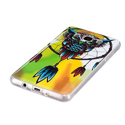 Noctilucent Funda para Samsung Galaxy J5(2016), Ukayfe Moda Alta Calidad suave de TPU Silicona Suave Funda Carcasa Caso Parachoques Diseño pintado Patrón para Samsung Galaxy J5(2016),Funda Case Lujo P Noctilucent-búho