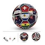Inflatable Leather Ball Little League Sport Boy Girl Party Favors,8.3''