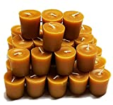 100% Beeswax Votive Candles - Bulk Pack of 36