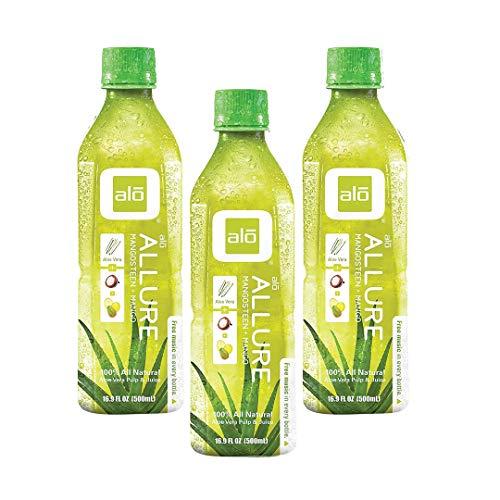 Alo Allure Mangosteen + Mango Drink 16.9 oz (Pack of 3)