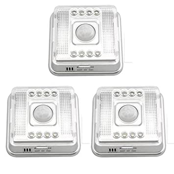 3X 8 LED Lámpara IR Infrarrojo Sensor A Movimiento Blanco