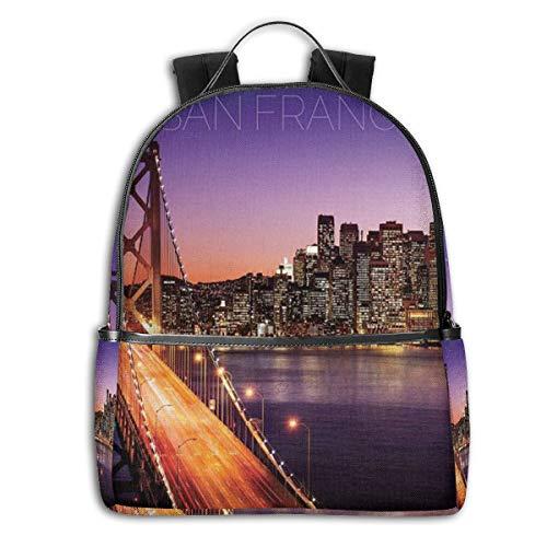 HBCC San Francisco School College Backpack Laptop Backpack Travel Water Resistant College School Bookbag Computer Business Backpacks (Best Weekend Getaways From Sf)