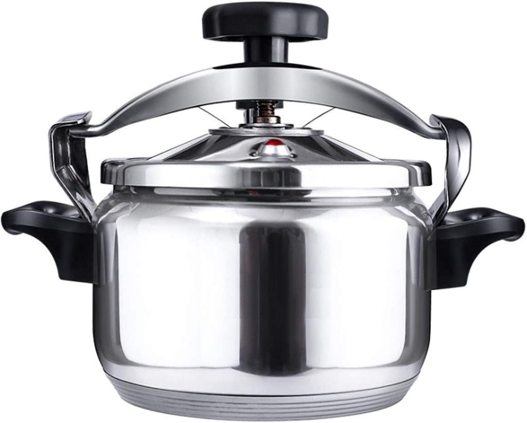 304 stainless steel explosion-proof pressure cooker, induction cooker and gas stove, suitable for home outdoor commercial large-capacity thickening cooking pot, 3L~40L (Color : Silver, Size : 9L)