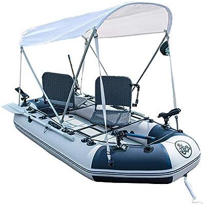 Juego de botes inflables con remos y bomba de aire, barco de pesca ...