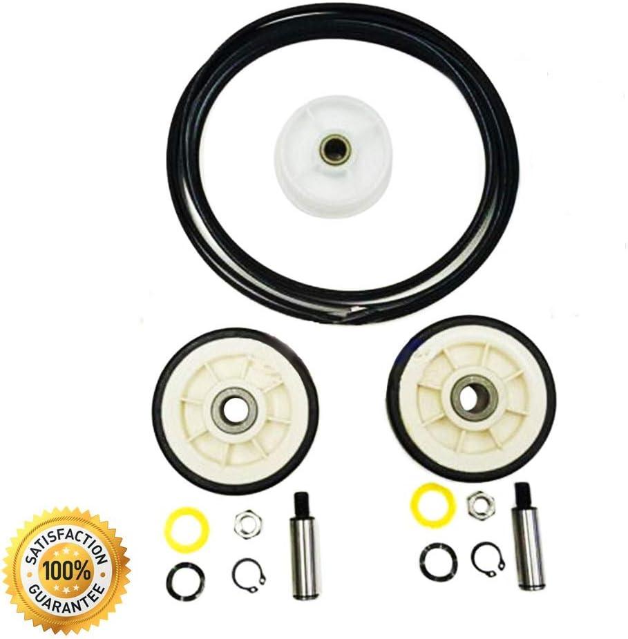 Dryer Roller Belt Pulley Repair Kit (33002535, 12001541, 6-3700340) for Whirlpool, Maytag