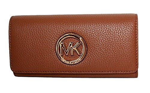 Michael Kors Fulton Flap Continental Leather Wallet Acorn by michael kors
