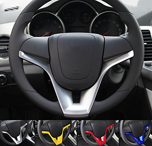 9 MOON ABS Steering Wheel Cover Trim for Chevrolet Cruze Chevy 2009-2015 Sedan Hatchback(Blue) (Chevy Cruze 9 Moon compare prices)