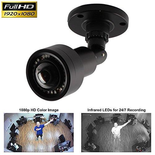 CCTV Camera Pros AHD-BL25 Wide Angle Security Camera, 180 Degree, 1080p HD TVI AHD CVI CCTV, IR, BNC