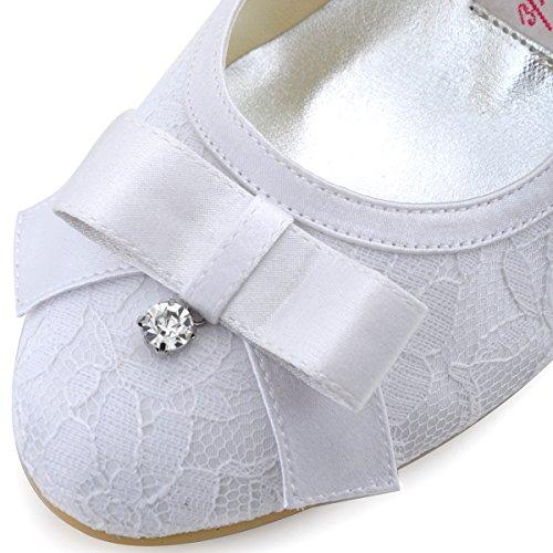 5 Tacones De Novia Honor Dama Zapatos Verano Arco De Redonda Suela Boda Punta De La De CM De Imitación Mujeres De 6 Diamantes De De Primavera Alto Aguja A Noche Satinado Sandalias Encaje De Las De Goma w6TPqFw