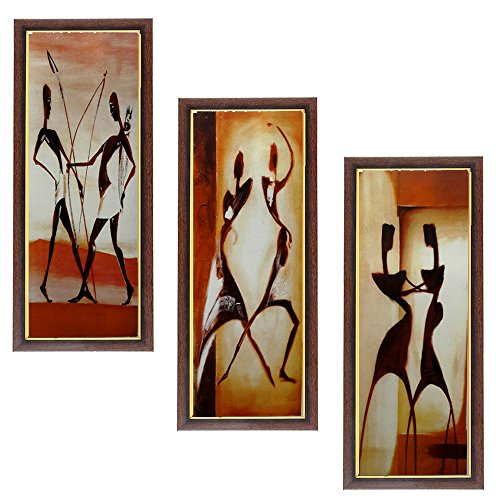 Wens People MDF Wall Art (43 cm x 18 cm x 1 cm, Set of 3)