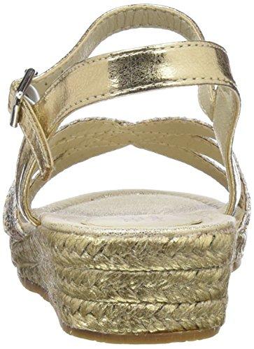 Conguitos Mädchen Sandalia Cuña Yute Plateausandalen Gold (Platino)