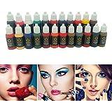 Wholesale 10pcs permanent USA BaodeLi Makeup tattoo ink pigment 15ml/bottle for eyebrow make up Permanent body makeup lip ink tattoo machine beauty tools