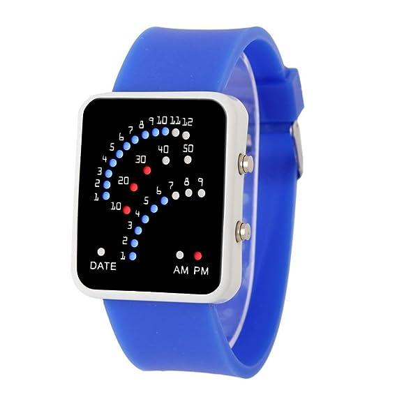GillBerry Mujer Hombres Nuevo Especial Moderno Futurista japonés Estilo Multicolor Deportes LED Reloj De Pulsera