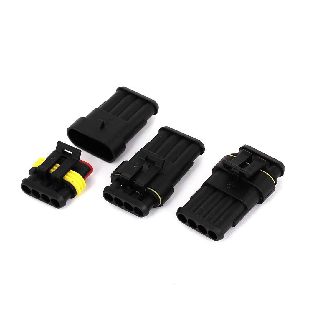Amazon.com: HID 4P Sealed Adaptador de conector Waterproof 3 Set: Car Electronics