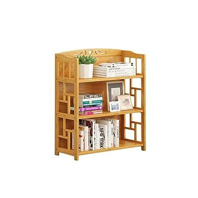 QARYYQ Estantería Simple Libros Misceláneas Estante de Almacenamiento en el Piso Estante de exhibición de la estantería de Tres Niveles 50x29x81cm Soporte de Libro (Size : M): Hogar