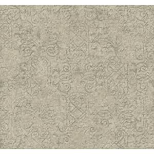 York Wallcoverings ER8153 Waverly Cottage Pen Pal Wallpaper, Pale Grey/Soft Silver/Graphite Grey by York Wallcoverings
