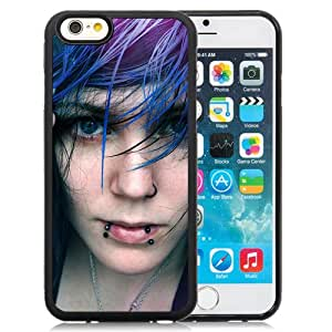 Unique Designed Cover Case For iPhone 6 4.7 Inch TPU With Pierced Emo Girl Girl Mobile Wallpaper Phone Case