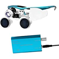 Docooler Wearable Magnifier Portable 3.5X 420mm Surgical Medical Binocular Loupes Optical Glass Headset Magnifying Glasses +3W LED Headlight