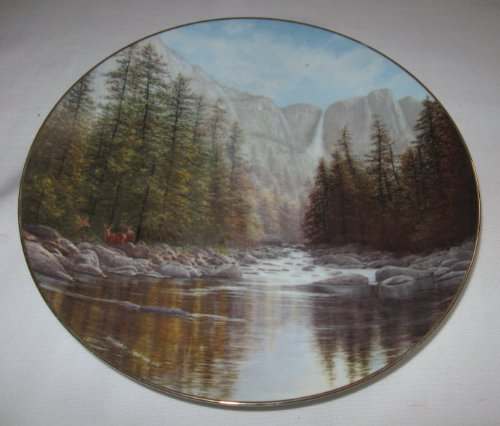 W.S. George Yosemite Falls First Issue in America the Beautiful Series Collector Plate