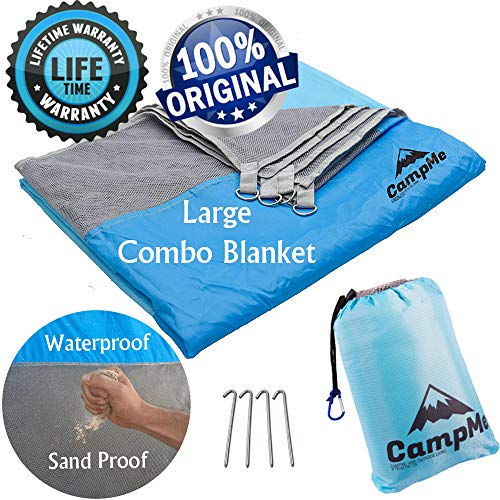 Premium Large Beach Blanket Sand Free And Waterproof Combined - Outdoor Sand Mat/Beach Mat Towel/Picnic Blanket Waterproof/SandFree - Sand Proof, Fast Dry, Strong Nylon, 79