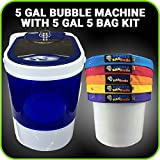 Bubble Machine 5 Gallon 5 Bag Ice Bubble Bags Mixing Kit - 5 Gallon Portable Mini Washing - Extracting System for Herbal Essence - With free 220 Micron Zipper Bag, Pressing Screen and Storage Bag