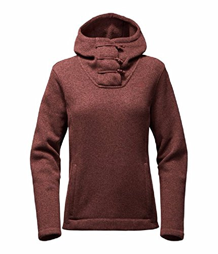 The North Face Women's Crescent Hoody Pullover - Sequoia Red Heather - L (Past (The North Face Pullover Fleece)