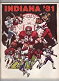 img - for Indiana Football '81 book / textbook / text book
