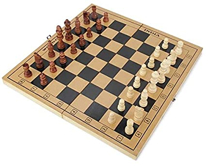 Jaykal Folding Wooden Chess Board Set Wooden Game Handmade, Classic Game of Brilliance (15x15 Inch)
