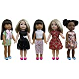"5 Sets Doll Clothes Dresses for 14""-14.5"" American Girl Doll Wellie Wisher Doll by ZITA ELEMENT"