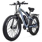 51A1DMd3HlL. SS150 DULPLAY Elettrico Bici,48v 1000w Elettrico Mountain Bike,4.0 Pneumatico Grasso Bicicletta, Spiaggia E-Bici Elettrica per…